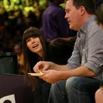 Jessica Biel attends a Los Angeles Lakers vs the Boston Celtics Game at the Staples Center in Los Angeles 109533