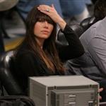 Jessica Biel attends a Los Angeles Lakers vs the Boston Celtics Game at the Staples Center in Los Angeles 109539