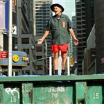 Bill Murray dumpster diving on Letterman July 2010  65656