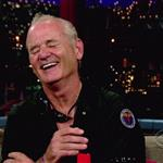Bill Murray dumpster diving on Letterman July 2010  65664