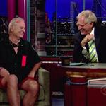 Bill Murray dumpster diving on Letterman July 2010  65666