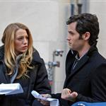 Blake Lively Penn Badgley  on set of Gossip Girl  72164