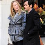 Blake Lively Penn Badgley  on set of Gossip Girl  72167