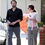 Ben Affleck with a black eye out with wife Jennifer Garner June 2011 100098