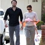 Ben Affleck with a black eye out with wife Jennifer Garner June 2011 100102