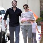 Ben Affleck with a black eye out with wife Jennifer Garner June 2011 100104