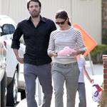 Ben Affleck with a black eye out with wife Jennifer Garner June 2011 100105