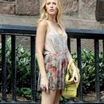Blake Lively on the set of Gossip Girl  122454