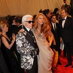 Blake Lively and Karl Lagerfeld at Met Gala 2011  84563