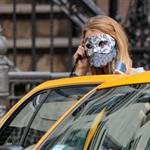 Blake Lively shoots masquerade ball scene Gossip Girl in New York 70063