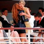 Blake Lively with Clemence Posey on the Chanel Cruise 2011 85100