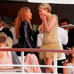 Blake Lively with Clemence Posey on the Chanel Cruise 2011 85101