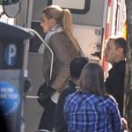 Blake Lively arrives at the set of Gossip Girl in Brooklyn, New York City 126443