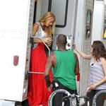 Blake Lively on the set of Gossip Girl July 2011 90332