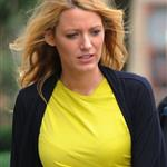 Blake Lively on the set of Gossip Girl 126887