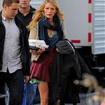 Blake Lively on the set of Gossip Girl 126893
