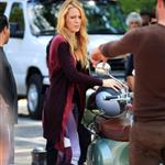 Blake Lively on the set of Gossip Girl in NYC 124555