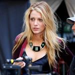 Blake Lively on the set of Gossip Girl in NYC 124575