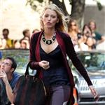 Blake Lively on the set of Gossip Girl in NYC 124579