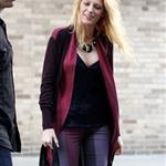 Blake Lively on the set of Gossip Girl in NYC 124582
