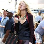 Blake Lively on the set of Gossip Girl in NYC 124583