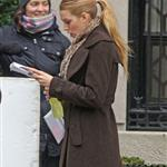 Blake Lively on the set of Gossip Girl  74425