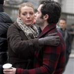 Blake Lively Penn Badgley hug while shooting Gossip Girl  74426