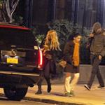 Blake Lively and Ryan Reynolds leaving his apartment with the dogs  97838
