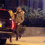 Blake Lively and Ryan Reynolds leaving his apartment with the dogs  97840