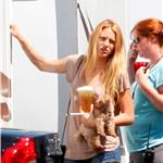 Blake Lively on the set of The Savages  92258