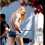 Blake Lively on the set of The Savages  92260
