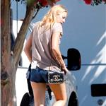 Blake Lively on the set of The Savages  92261