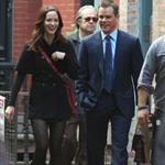 Emily Blunt and Matt Damon in NY on set of The Adjustment Bureau 48227