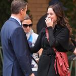 Emily Blunt and Matt Damon in NY on set of The Adjustment Bureau 48230