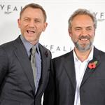 Daniel Craig and Javier Bardem and Sam Mendes at the Bond 23 Skyfall announcement in London 97633
