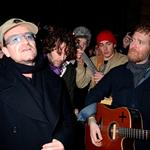Bono and Glen Hansard busking for charity in Dublin on Christmas Eve 101373