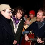 Bono and Glen Hansard busking for charity in Dublin on Christmas Eve 101374