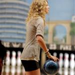 Taylor Swift and Selena Gomez go bowling with Cory Monteith 57430