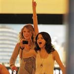 Taylor Swift and Selena Gomez go bowling with Cory Monteith 57440