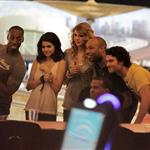 Taylor Swift and Selena Gomez go bowling with Cory Monteith 57445