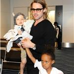 Brad Pitt and Angelina Jolie leave Japan with the children  98165