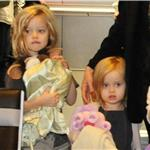 Brad Pitt and Angelina Jolie leave Japan with the children  98169