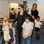 Brad Pitt and Angelina Jolie leave Japan with the children  98181