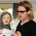 Brad Pitt and Angelina Jolie leave Japan with the children  98191
