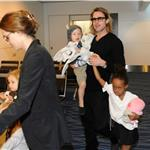 Brad Pitt and Angelina Jolie leave Japan with the children  98193