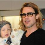 Brad Pitt and Angelina Jolie leave Japan with the children  98194