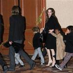 Brad Pitt and Angelina Jolie Take the kids to see the Immortal Michael Jackson Cirque du Soleil in Las Vegas 100932