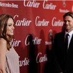 Angelina Jolie and Brad Pitt at The 23rd Annual Palm Springs International Film Festival Awards Gala 102051
