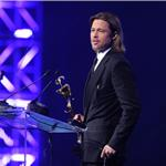 Brad Pitt accepts award at The 23rd Annual Palm Springs International Film Festival Awards Gala 102092