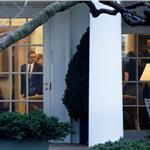 Angelina Jolie and Brad Pitt are seen the Oval Office of the White House  102498